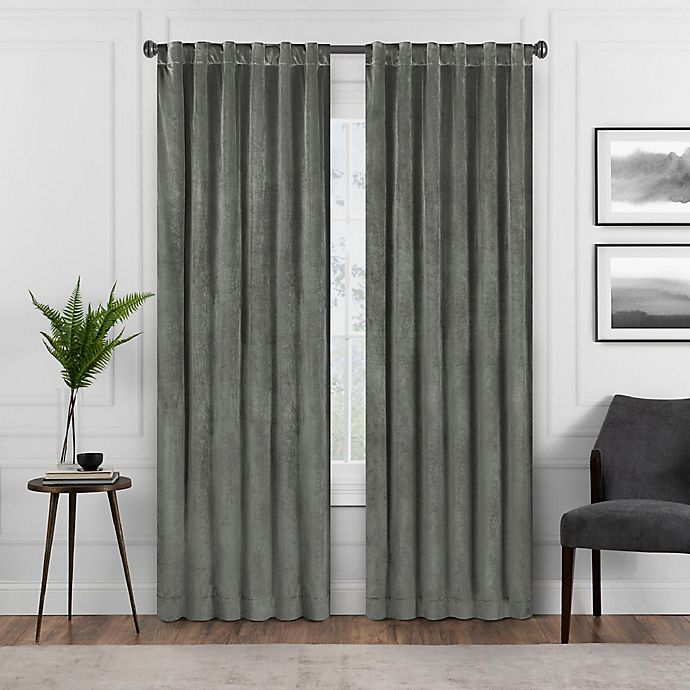 Alternate image 1 for Eclipse Harper 63-Inch Rod Pocket Blackout Window Curtain Panel in Charcoal