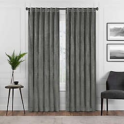 Eclipse Harper 63-Inch Rod Pocket Blackout Window Curtain Panel in Charcoal