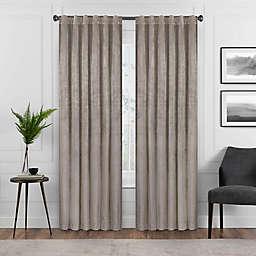 Eclipse Harper 95-Inch Rod Pocket Blackout Window Curtain Panel in Mushroom