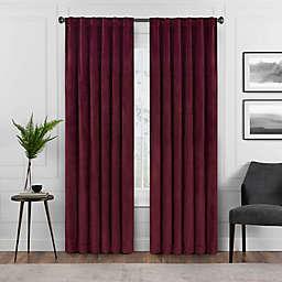 Eclipse Harper 63-Inch Rod Pocket Blackout Window Curtain Panel in Port (Single)