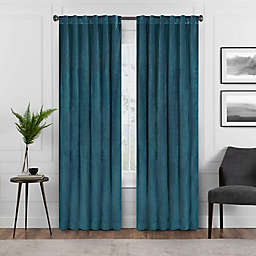 Eclipse Harper 63-Inch Rod Pocket Blackout Window Curtain Panel in Teal