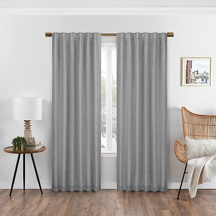 Alternate image 1 for Eclipse Nora Solid Rod Pocket/Back Tab 100% Blackout Window Curtain Panel