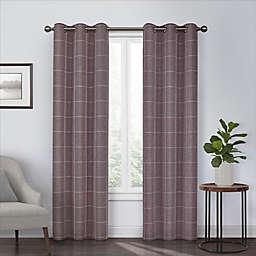 Eclipse Peconic 84-Inch Grommet Room Darkening Window Curtain Panel in Port