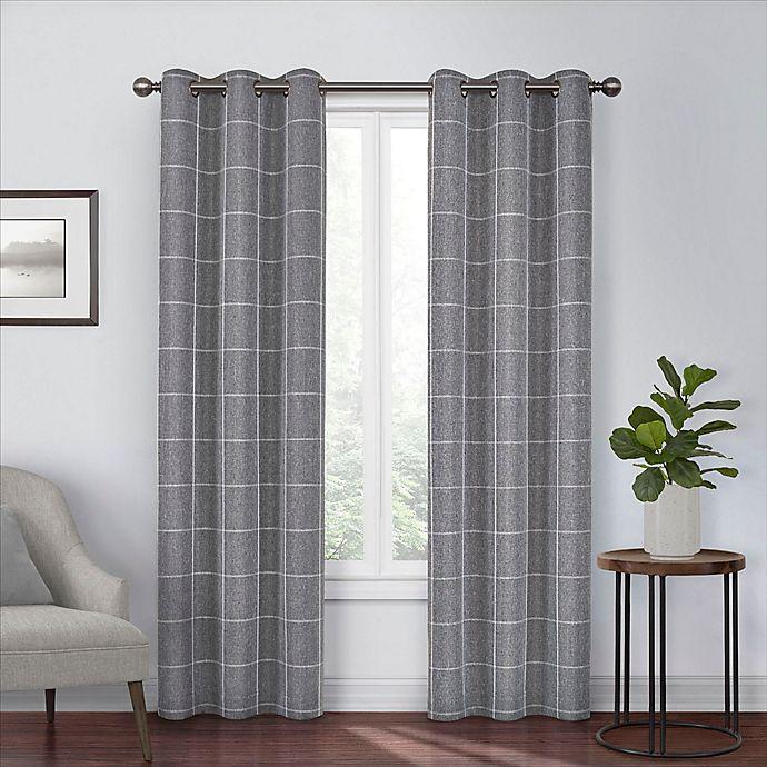 Alternate image 1 for Eclipse Peconic 108-Inch Grommet Room Darkening Window Curtain Panel in Black
