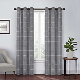 Eclipse Peconic 84-Inch Grommet Room Darkening Window Curtain Panel in Black