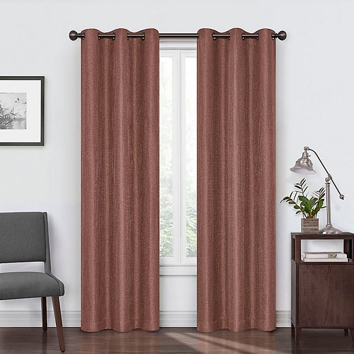 Alternate image 1 for Eclipse Reagan 63-Inch Grommet Room Darkening Window Curtain Panel in Brick