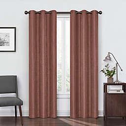 Eclipse Reagan 63-Inch Grommet Room Darkening Window Curtain Panel in Brick