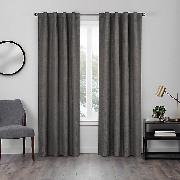 Alternate image 1 for Eclipse Walken 63-Inch Rod Pocket Room Darkening Window Curtain Panel in Charcoal