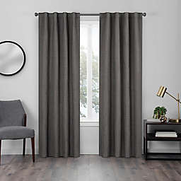 Eclipse Walken 108-Inch Rod Pocket Room Darkening Window Curtain Panel in Charcoal