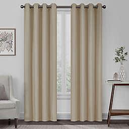 Eclipse Kira Herringbone Grommet 100% Blackout Window Curtain Panel (Single)