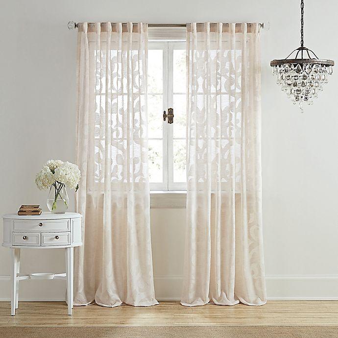 Alternate image 1 for Wamsutta® Vintage Ellesmere Light Filtering Rod Pocket/Back Tab Window Curtain Panel