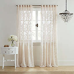Wamsutta® Vintage Ellesmere 84-Inch Rod Pocket/Back Tab Window Curtain Panel in Linen