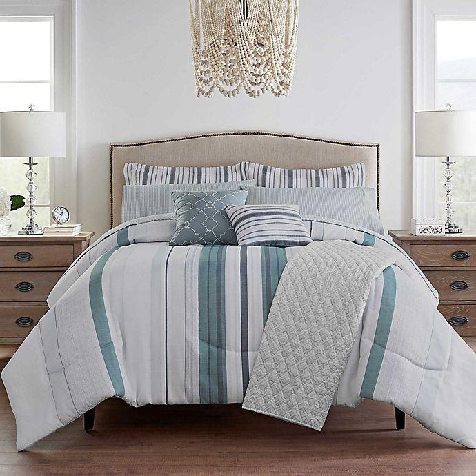 Alternate image 1 for Waverly® Forever Stripe 10-Piece Comforter Set