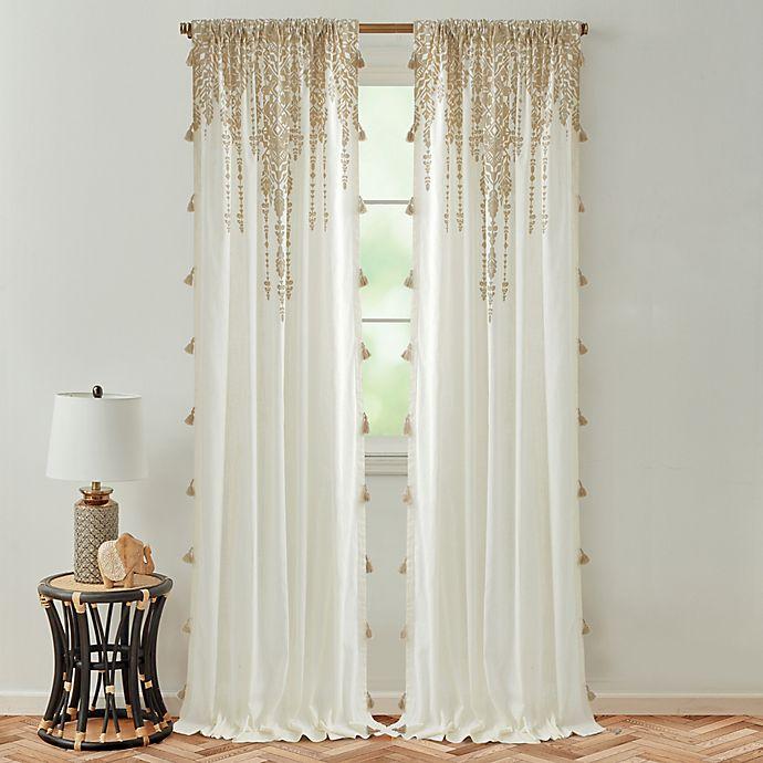 Alternate image 1 for Global Caravan Marrakech 84-Inch Rod Pocket Light Filtering Window Curtain Panel in Natural