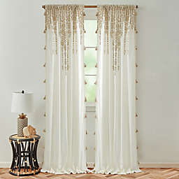 Global Caravan Marrakech 84-Inch Rod Pocket Light Filtering Window Curtain Panel in Natural