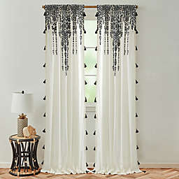 Global Caravan Marrakech 84-Inch Rod Pocket Light Filtering Window Curtain Panel in Dark Grey