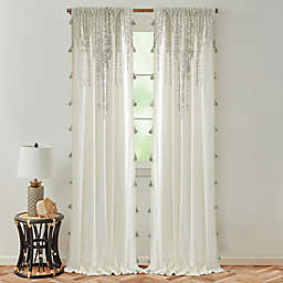 Global Caravan Marrakech 95-Inch Rod Pocket Light Filtering Window Curtain Panel in Light Grey