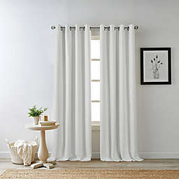 Bee & Willow™ Home Hadley 108-Inch Grommet 100% Blackout Window Panel in White