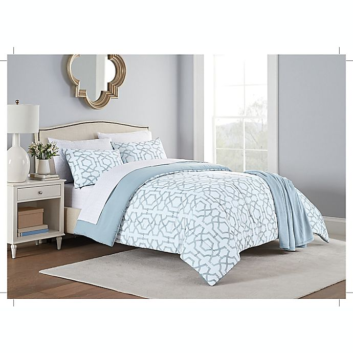 Alternate image 1 for Stratford 8-Piece Comforter Set in Aqua