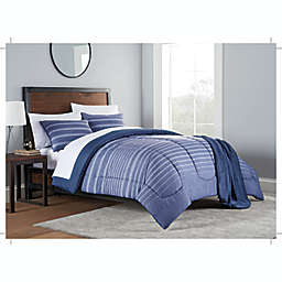 Liam 8-Piece Queen Comforter Set in Navy