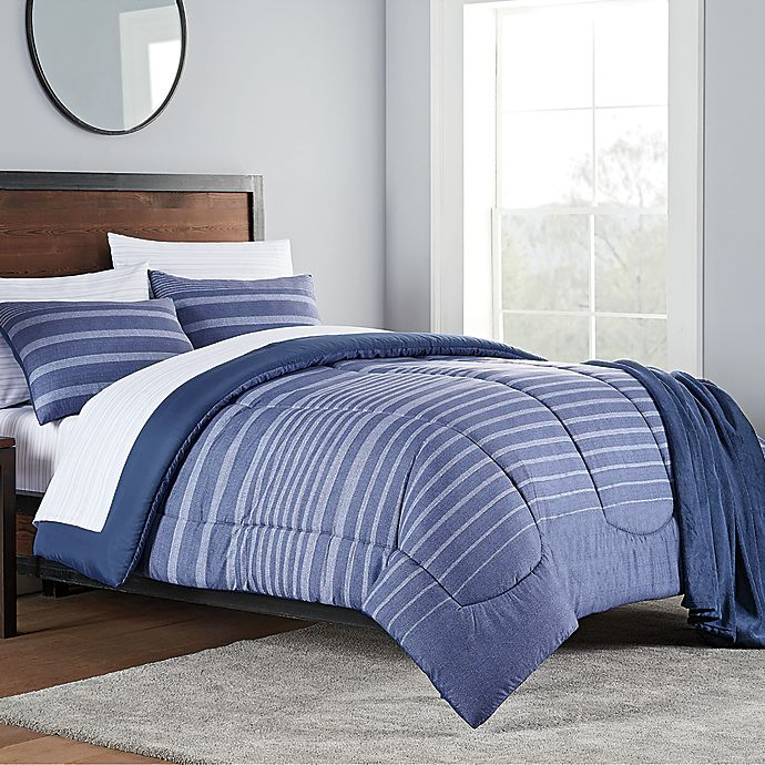 Alternate image 1 for Liam 8-Piece Comforter Set in Navy