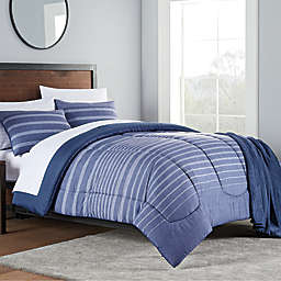 Liam 8-Piece King Comforter Set in Navy