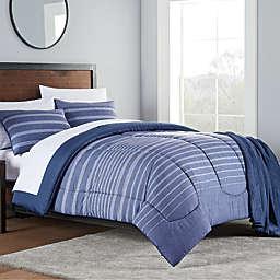 Liam 8-Piece California King Comforter Set in Navy