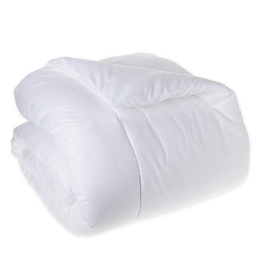 Alternate image 1 for Simply Essential™ Microfiber Down Alternative King Comforter in White