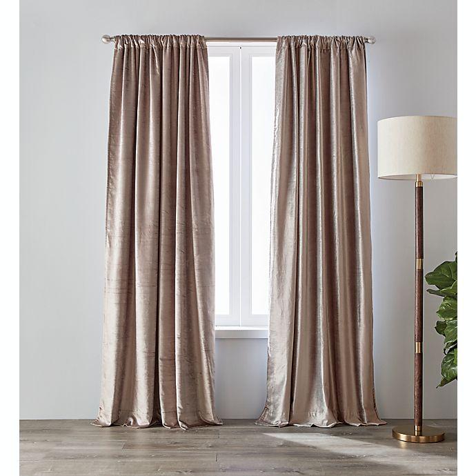Alternate image 1 for O&O by Olivia & Oliver™ 95-Inch Luster Velvet Curtain Panel in Lavender (Single)