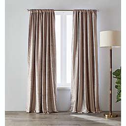 O&O by Olivia & Oliver™ 95-Inch Luster Velvet Curtain Panel in Lavender (Single)