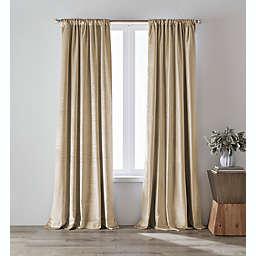 O&O by Olivia & Oliver™ 63-Inch Luster Velvet Curtain Panel in Khaki (Single)