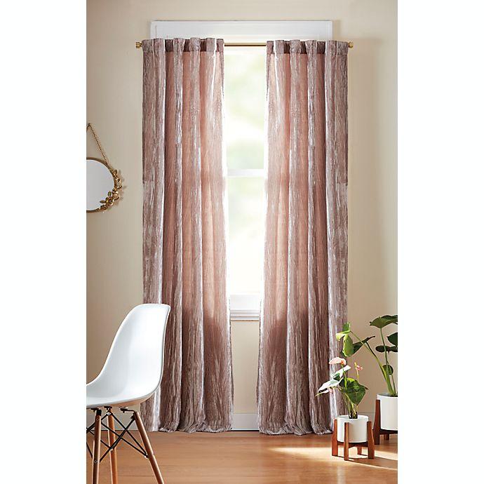Alternate image 1 for Wild Sage™ Valentina Rod Pocket/Back Tab Room Darkening Window Curtain Panel (Single)