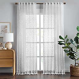 Wild Sage™ Aveline 84-Inch Rod Pocket Sheer Curtain Panel in Bright White (Single)