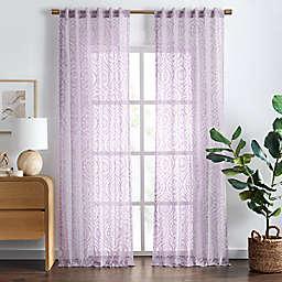 Wild Sage™ Aveline 95-Inch Rod Pocket/Back Tab Sheer Window Curtain Panel in Lavendar