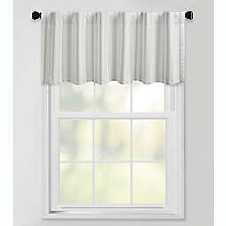 Bee & Willow Stripe Lined Valance Silver