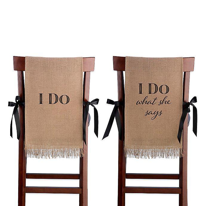 Stupendous Lillian Rose I Do Burlap Chair Cover Set Pabps2019 Chair Design Images Pabps2019Com