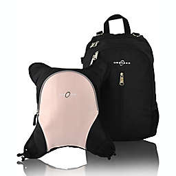 Obersee Rio Diaper Bag Backpack with Detachable Cooler in Black/Bubblegum
