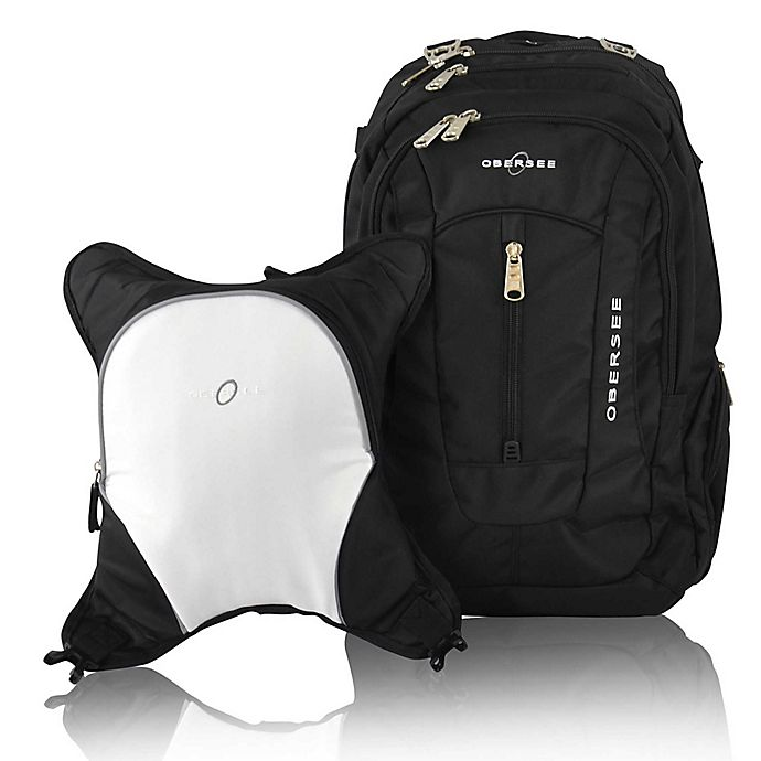 Alternate image 1 for Obersee Bern Diaper Bag Backpack with Detachable Cooler in White