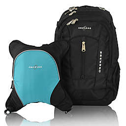 Obersee Bern Diaper Bag Backpack with Detachable Cooler in Turquoise