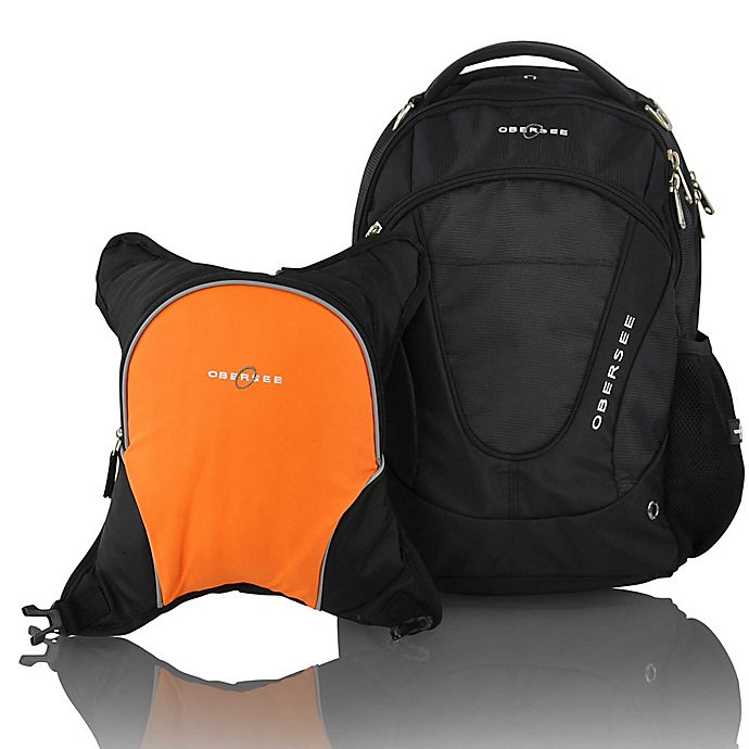 Alternate image 1 for Obersee Oslo Diaper Bag Backpack with Detachable Cooler