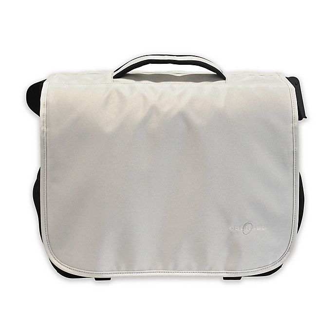 Alternate image 1 for Obersee Madrid Convertible Diaper Messenger Bag with Viola Changing Kit in White