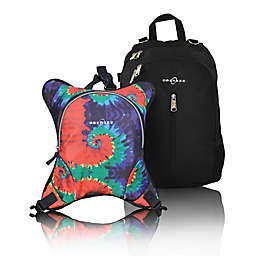 Obersee Rio Diaper Bag Backpack with Detachable Cooler in Tie Dye