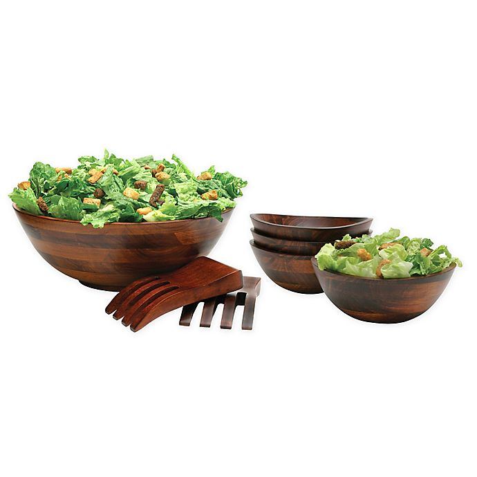 Alternate image 1 for Lipper Cherry Wood Serveware Collection
