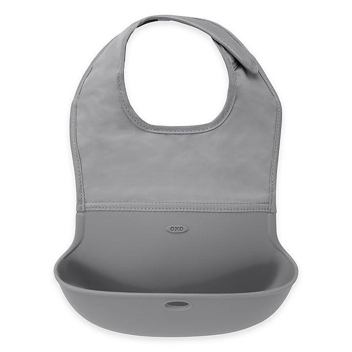 Alternate image 1 for OXO Tot® Roll Up Bib in Grey