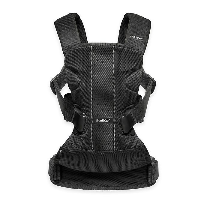Alternate image 1 for BABYBJORN® 2016 Baby Carrier One with Bib Bundle in Black Mesh
