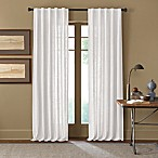 Cambria® Malta 63-Inch Rod Pocket/Back Tab Window Curtain Panel in White