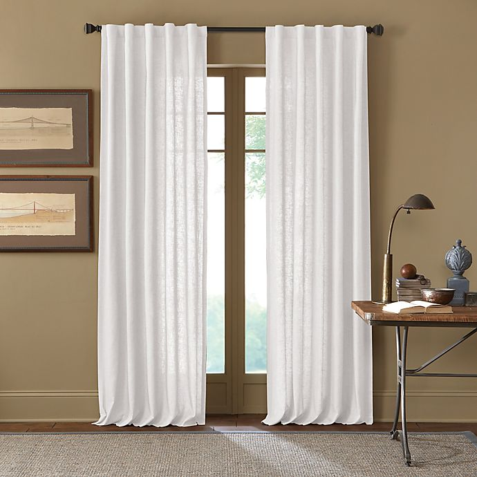 Alternate image 1 for Cambria® Malta 95-Inch Rod Pocket/Back Tab Window Curtain Panel in White