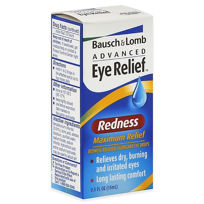 Alternate image 1 for Bausch +Lomb Advanced Eye Relief™ .5 oz. Redness Maximum Relief Lubricant Eye Drops