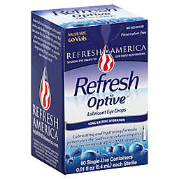 Refresh Optive® 60-Count Sensitive Preservative-Free Lubricant Eye Drops