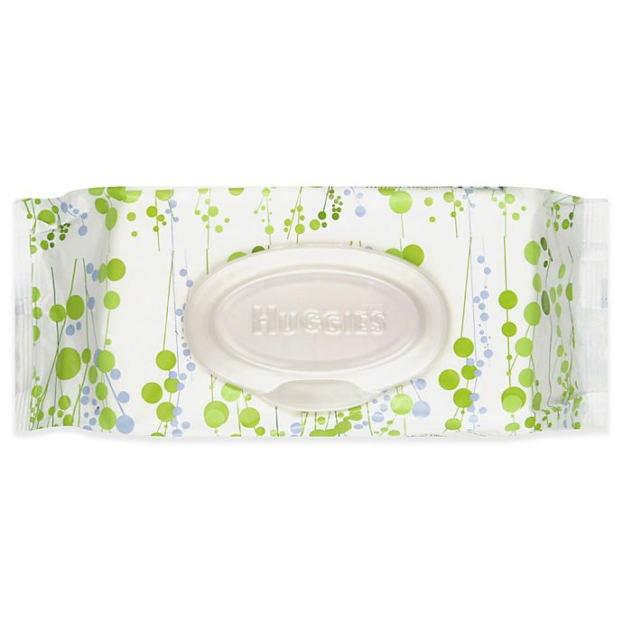 Alternate image 1 for Huggies® Natural Care 56-Count Fragrance-Free Baby Wipes Soft Pack